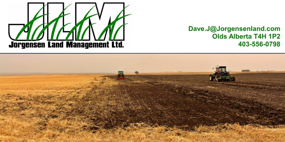 Jorgensen Land Management is an Oilfield Reclamation, Remediation, and Construction company based out of Olds Alberta, and active in central, eastern, and southern Alberta.